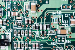 Close up of a printed circuit board Royalty Free Stock Photography