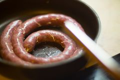 Making sausage at home Royalty Free Stock Photography