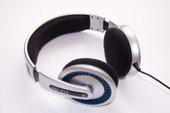 Close-up of a professional headphones stock image