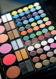 Close-up of a professional make-up kit Royalty Free Stock Images