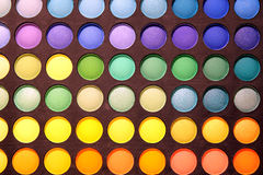 Professional multicolour eyeshadows palette Royalty Free Stock Photography