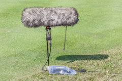 Close-up the professional sport microphone  Stock Photos