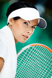 Close up of professional tennis player Royalty Free Stock Images