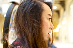 Close up profile of a girl Royalty Free Stock Photos