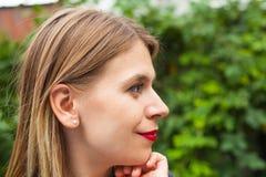 Charming lady profile view Stock Photos