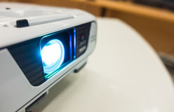 .Close up of projector on table Royalty Free Stock Photo