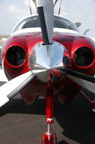 Close up of propeller. Close up of a propeller of a light aircraft royalty free stock photos