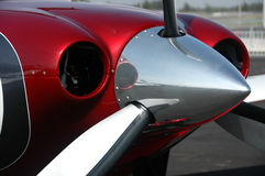 Close up of propeller. Close up of a propeller of a light aircraft royalty free stock photo