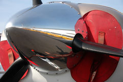 Close up of propeller. Close up of a properller of a light aircraft royalty free stock photo