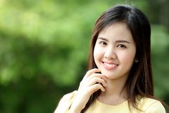 Close up protrait yong girl Royalty Free Stock Photo
