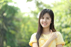 Close up protrait yong girl Royalty Free Stock Photography
