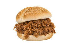 Close up on pulled pork sandwich Royalty Free Stock Images