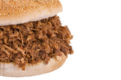 Close up on pulled pork sandwich Stock Photos