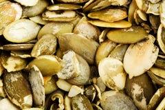 Close up of the pumpkin seeds Stock Photo