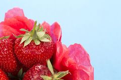 Close up of a punnet of strawberries Stock Photo