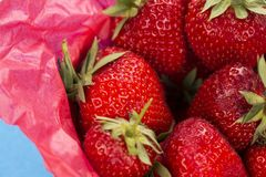 Close up of a punnet of strawberries Stock Photography