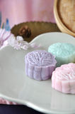 Close up Purple Color Snow Skin Mooncake Stock Photography