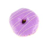 Close up purple. Donut on white background Royalty Free Stock Image