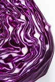 Close up of purple red cabbage head Stock Photography