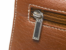 Close up of the purse zip Royalty Free Stock Photo