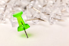 Close up of a push pin Royalty Free Stock Photos