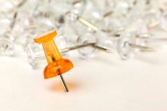 Close up of a push pin Royalty Free Stock Photos