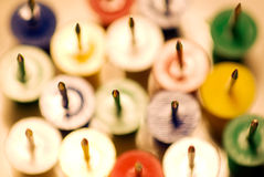 Close up of  push pins Stock Image