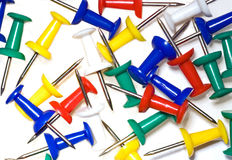Close up of  push pins Royalty Free Stock Photo