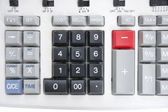 Close-up of pushbuttons of calculator Royalty Free Stock Photo