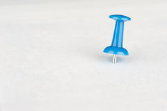 Close up of a pushpin Royalty Free Stock Images
