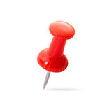Close up of a pushpin on white Royalty Free Stock Photos