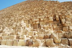 Close-up on the pyramid of Kefren in Cairo, Giza, Egypt stock image