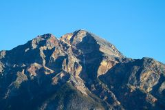 Pyramid Mountain Summit in Jasper National Park Alberta Canada Royalty Free Stock Image