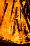 Close up of a pyre burning on the beach Royalty Free Stock Photo
