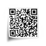 Close up of a QR code on a white stick note Royalty Free Stock Image
