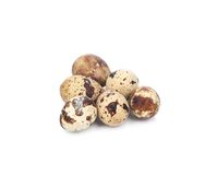 Close up of quail eggs. Royalty Free Stock Image