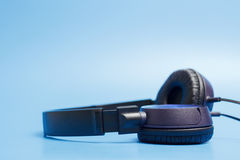 Close-up of quality plastic headphones Stock Photos
