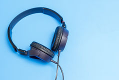 Close-up of quality plastic headphones Royalty Free Stock Photo