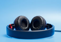 Close-up of quality plastic headphones Stock Images
