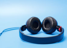 Close-up of quality plastic headphones Royalty Free Stock Image