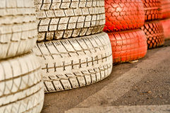 Close up of racetrack fence Royalty Free Stock Photo