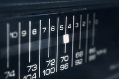 Close-up of radio display Royalty Free Stock Image