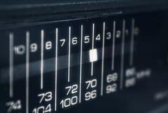 Close-up of radio display. Close-up of black radio display royalty free stock image