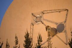 Close up of radio telescope dish Stock Photo