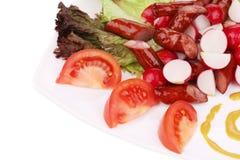 Close up of radish salad. Royalty Free Stock Photography