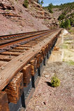 Close-up of Railroad Bridge Royalty Free Stock Images