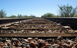 Close up of railroad track Royalty Free Stock Image