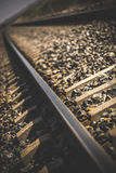 Close-up of railway in sunlit Royalty Free Stock Photos