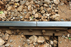 Close up of railway track Royalty Free Stock Images