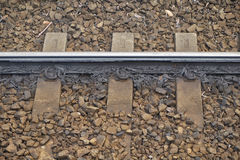 Close up of Railway Track Royalty Free Stock Photos